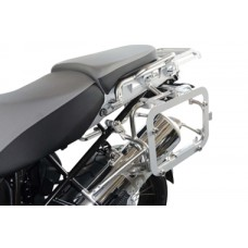TraX® EVO Sidecase Adapter Kit. Silver. For OEM BMW R1200GS Adv. In pairs.