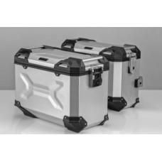 Комплект багажных кофров и креплений к ним для Yamaha XT1200Z Super Tenere. (серебристый)