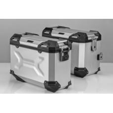 Комплект багажных кофров и креплений к ним для  Kawasaki KLR 650 (серебристый)